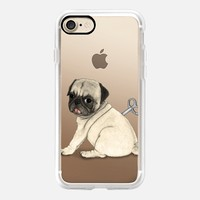 Pug; Toy dog (transp.) iPhone 7 Case by Barruf | Casetify