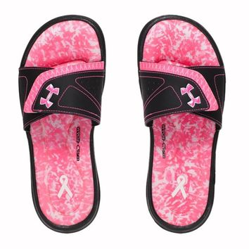 Under Armour Women's UA Power in Pink Ignite VII Slides Sandals