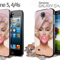 marlyn monroe and bubble gum iphone 4 /4S / 5 case samsung galaxy S3 / S4 case