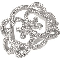 Sterling Silver Granulated Filigree Design Ring