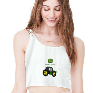 John Deere For Womens Crop Tank **