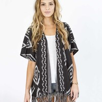 Billabong Women's Whole Hearted Cardigan Off Black