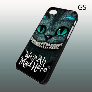 Iphone 4 case  Alice  Chesire Cat smile We're all by LAVISTASTORE