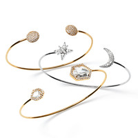 Moon & Star Pinch Bracelet, CZ Ball-Tip Bracelet & Clear-Facet Pinch Bracelet