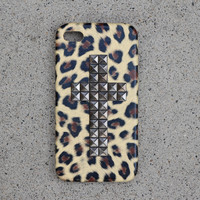 Cheetah Studded Cross Case