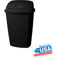 Walmart: Sterilite 13.2-Gallon Swing-Top Trash Can, Black - set of 4