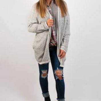 Autumn Crisp Cardigan - Grey