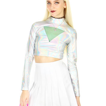 ROBOT HEART CROP TOP