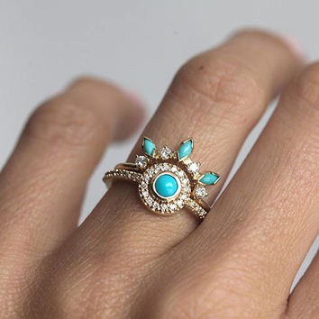 turquoise and diamond wedding ring best turquoise and engagement rings products on wanelo 8114