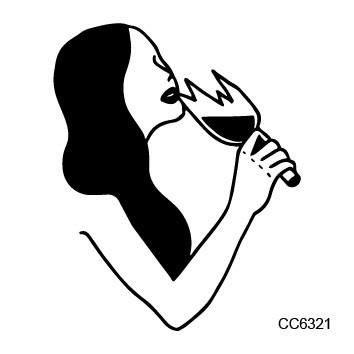 CC6321 6X6cm Little Vintage Old School Style Naked Drinking Women Temporary Tattoo Sticker Body Art Water Transfer Fake Taty