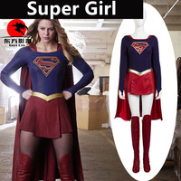 Hot New Teleplay SuperGirl Superwoman Cosplay Costumes Senior Custom Suit