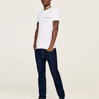 POLO SHIRT WITH FAUX SUEDE COLLAR