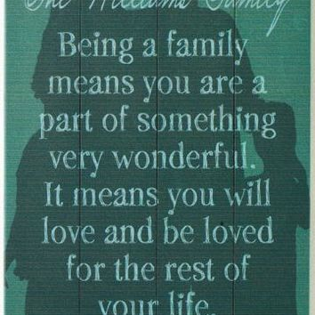 Being a Family Personalized Wooden Sign - Unframed Art - Wall Decor - Home Decor | HomeDecorators.com