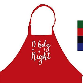 StickerChef O Holy Night Christmas Chef's Funny Cooking Apron Kitchen, BBQ Grill, Breathable, Machine Washable