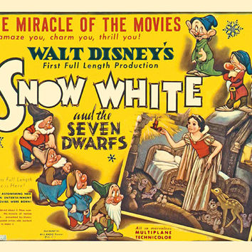Snow White and the Seven Dwarfs (UK) 30x40 Movie Poster (1937)