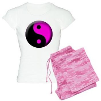 Yin Yang Pink Women's Light Pajamas - Girl Tease