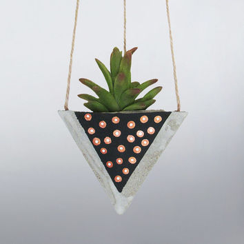 Air Planter, Succulent Planter, Concrete Planter, Hanging Planter, Succulent Holder, Geometric Planter, Black Planter, Succulent Pot, Bronze