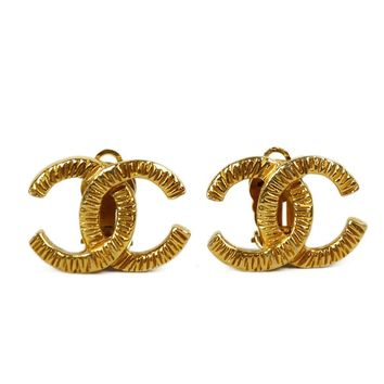 Chanel Gold CC Clip On Earrings