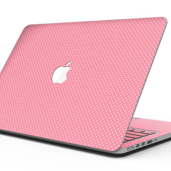 The Pink and White Micro Dot Pattern - MacBook Pro with Retina Display Full-Coverage Skin Kit