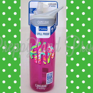 Lilly Pulitzer Inspired Monogrammed Camelbak Water Bottles |Camelbak|Water Bottle|Fitness|Greek Letters|Personalized|Sorority