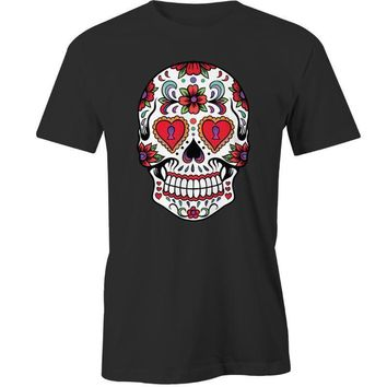 Sugar Skull Flower T-Shirt Calavera Day of The Dead Mexican Design Tee New Harajuku  Shirt Top Tee 2018 New BrandKawaii Pokemon go  AT_89_9
