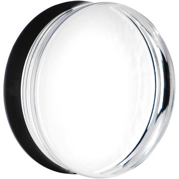 40mm Clear Black Acrylic Mirror Split Saddle Plug
