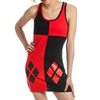 DC Comics Harley Quinn Character Juniors Black and Red Costume Tank Dress - Batman - | TV Store Online