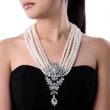 Chunky Pearl Choker Necklace