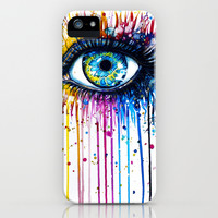 """Rainbow Eye"" iPhone & iPod Case by PeeGeeArts"
