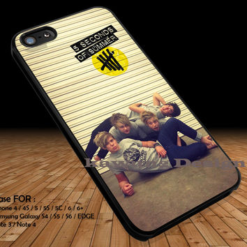 Funny Photo 5 Seconds of Summer iPhone 6s 6 6s+ 5c 5s Cases Samsung Galaxy s5 s6 Edge+ NOTE 5 4 3 #music #5sos DOP2139