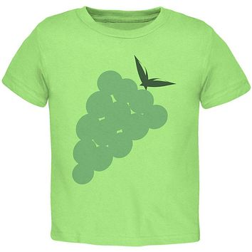 Halloween Green Grape Costume Toddler T Shirt