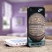 Nike Basketball Just Do It and Passion - iPhone 4, 5, 5S 5C, Samsung Galaxy S3,S3 mini, S4, S4 mini and iPod 4, 5 Case