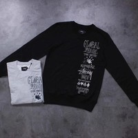 Stussy Woman Men Fashion Embroidery Top Sweater Pullover