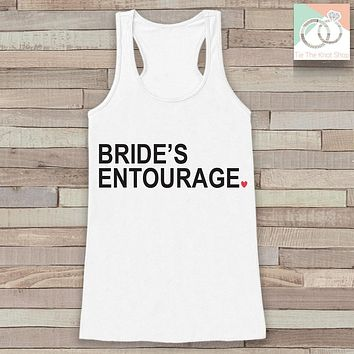 Bridesmaid Tank - Bride's Entourage Tank Top - Wedding Shirt - White Tank Top - Simple Bridal Top - Bachelorette Party - Bridal Party Outfit