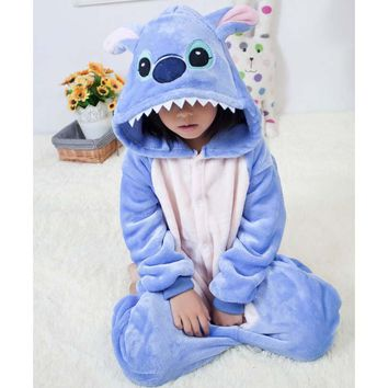 Onesuit Kinderen Stitch Overalls Jumpsuit Kids Pijama Children Animal Cosplay Costume Kigurumi Onesuit Blanket Sleepers Pajamas