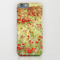Abstract poppies iPhone & iPod Case by Guido Montañés
