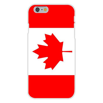 Apple iPhone 6 Custom Case White Plastic Snap On - Canada - World Country National Flags