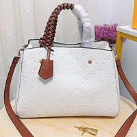 Louis vuitton LV Fashion new monogram leather shopping leisure shoulder bag crossbody bag handbag White