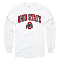 Ohio State Buckeyes White Perennial II Long Sleeve T-Shirt