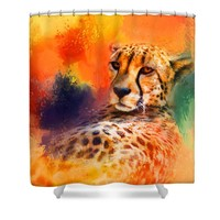 Colorful Expressions Cheetah Shower Curtain for Sale by Jai Johnson