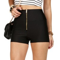 Black High Waisted Zip Pants