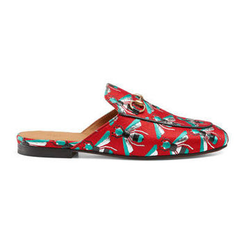 Gucci Princetown bee jacquard slipper