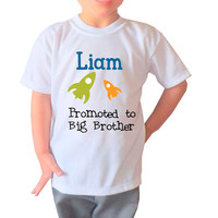 """Big Brother Shirt """"Promoted to Big Brother""""-Kid's Clothing"""
