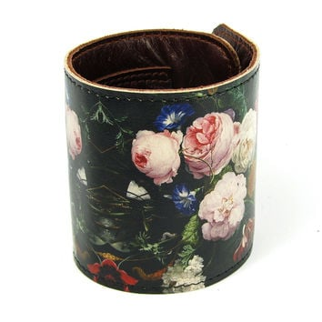 Leather Wallet Cuff / Bracelet Purse - A Dutch Spring
