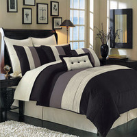 Black Hudson Luxury 8-Piece comforter Set