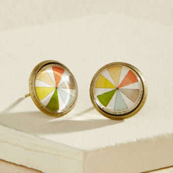 Couleur, Calm, Collected Earrings | Mod Retro Vintage Earrings | ModCloth.com