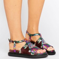 ASOS FLIPPED Jacquard Chunky Sandals at asos.com