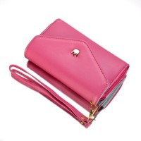 ATC Masione(TM) New Design Multifunctional Coin Purse Wrist Bag Handbag Envelope Wallet Pouch Case for Apple iphone 5S 5C 5 4S 4 Samsung Galaxy S4 S3 N7100 HTC ONE M7 Smart Phone + free Stylus Pen (Rose Red/Crown)