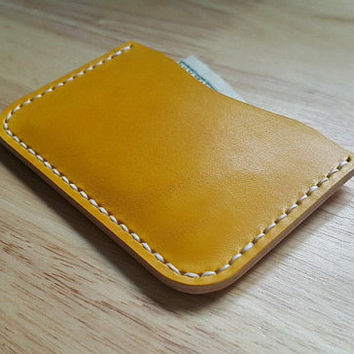 Slim wallet, Craft, Handmade, Monogram wallet, Mens wallet, Handmade gift, Bestfriend gift