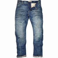 River Island MensMid wash Curtis slouch jeans